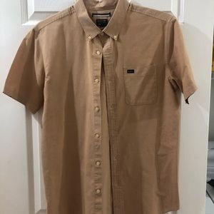 RVCA Slim Fit Men's Short Sleeve Button Down